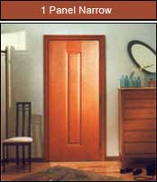 One Panel Narrow Door
