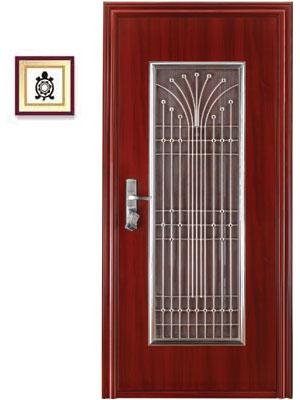 Glo guard security steel doors - Safety wooden door designs ...
